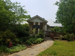 Common House, with a wheelchair ramp leading to the front door