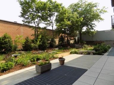 View from Veggie Garden to sitting garden