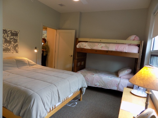 One of two guest suites
